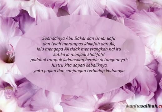 Mengapa Ali Tidak Menyelisihi Abu Bakar dan Umar