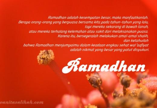 Renungan pada Bulan Ramadhan