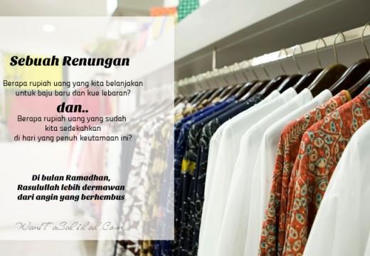 Nasihat tentang Belanja Baju Lebaran