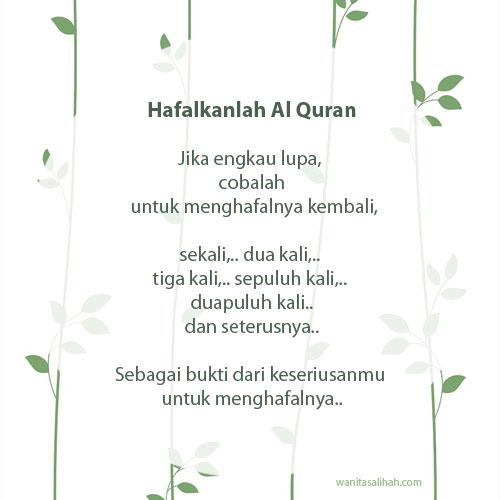 pantang menyerah menghafal Al Quran
