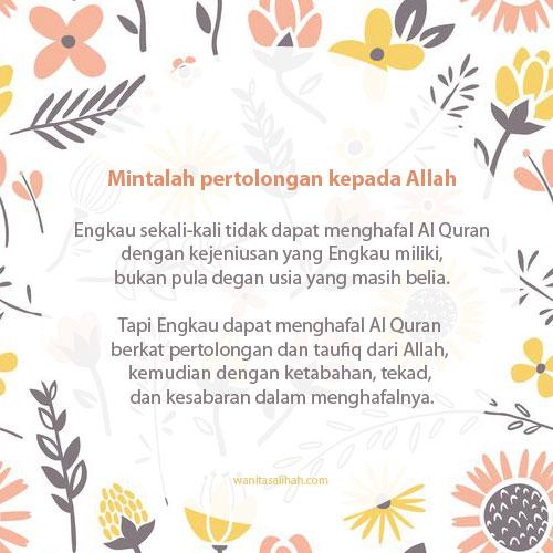 Pertolongan Allah dalam menghafal Al Quran