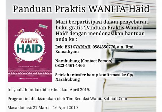 Donasi Buku Gratis Panduan Praktis Wanita Haid