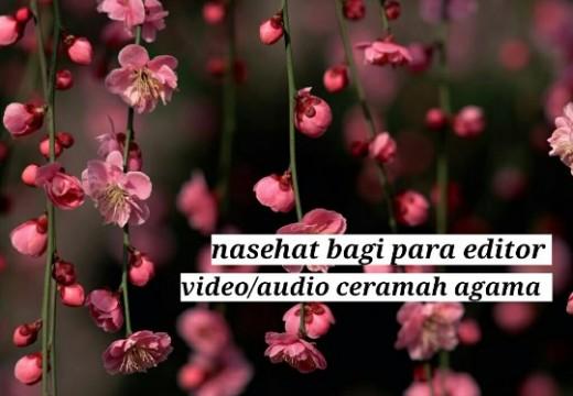 Nasihat Syaikh Asy Syinqithy Kepada Para Editor Video/Audio Ceramah