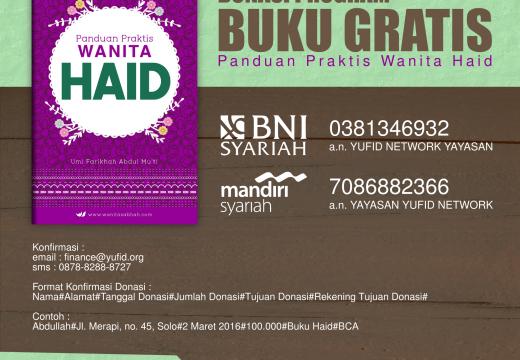 Program Buku Gratis Panduan Praktis Wanita Haid